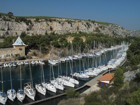 Calanque de Port-Miou - port de plaisance