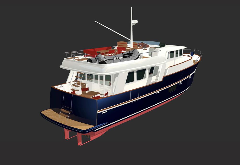 bateau  Rhéa 57 Trawler