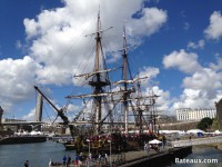 Photo de l'Hermione pendant Brest 2016