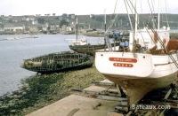 Gwalarn de Brest au carénage à Camaret en 1977