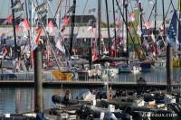 L'ambiance sur les pontons du Vendée Globe 2016