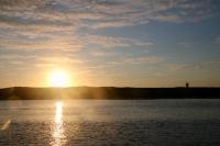 Coucher de soleil sur le Ledenez de Molène
