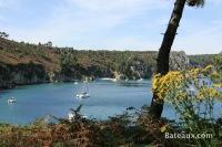 Anse de Saint-Hernot depuis l'Ile-Vierge (29)