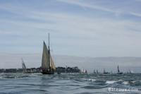 Le Saint Michel II, yacht de Jules Verne, dans les courants de Port Navalo