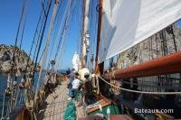Les Tas de Pois en presqu'ile de Crozon à bord de la Recouvrance
