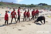 Cours de surf sur la plage de La Palue (29)