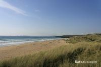 La plage de la Palue vue des dunes