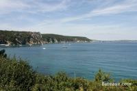 Baie de Douarnenez depuis l'Ile-Vierge (Crozon 29)