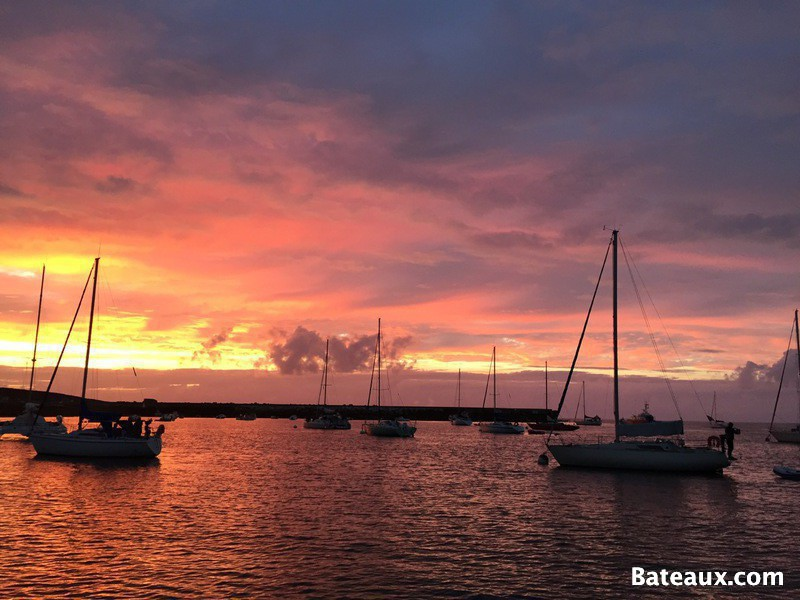 Photo Coucher de soleil sur l'île de Molène