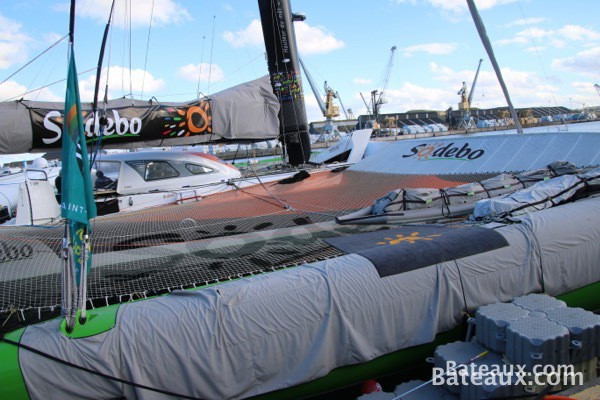 Photo Sodebo Ultim avant le départ de la Route du Rhum - 13
