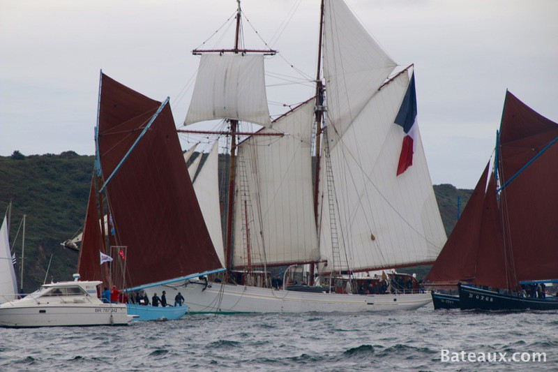 Photo La Belle Poule avec l'Hermione