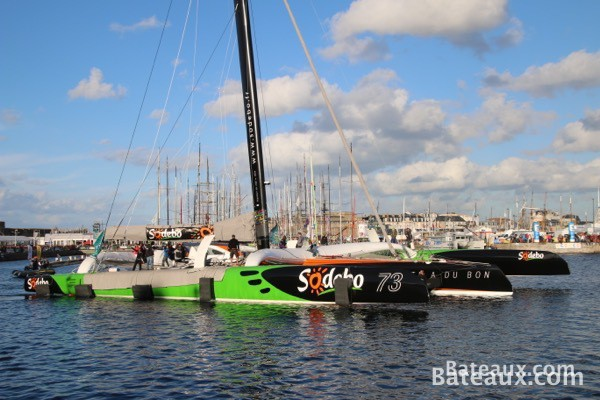 Photo Sodebo Ultim avant le départ de la Route du Rhum