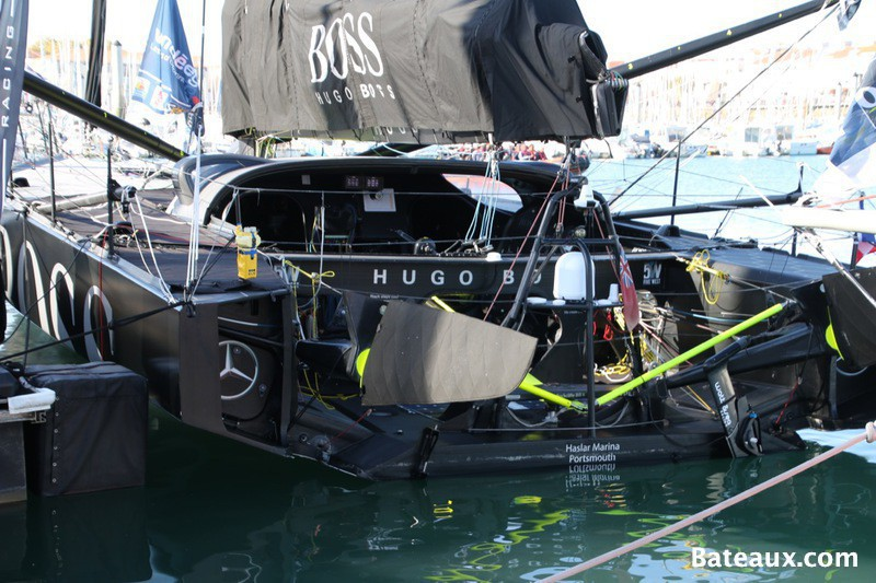Photo Cockpit de l'IMOCA Hugo Boss d'Alex Thomson
