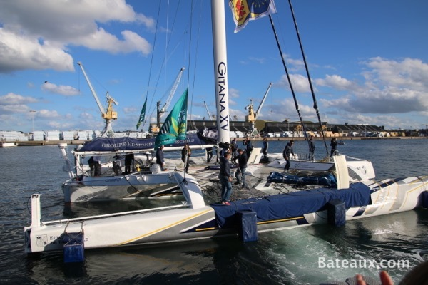 Photo Sébastien Josse sur Gitana XV d'Edmond de Rothschild