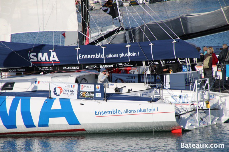Photo SMA de Paul Meilhat ponton du Vendée Globe