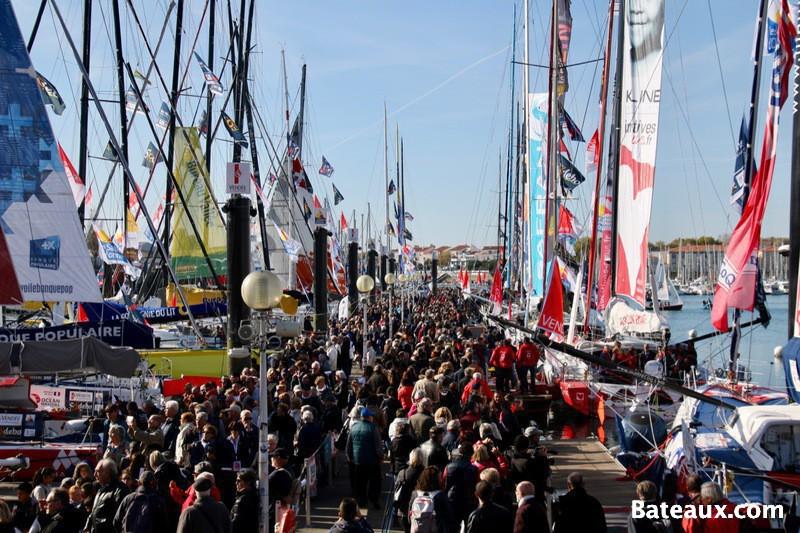 Photo L'ambiance sur le ponton du Vendée Globe 2016