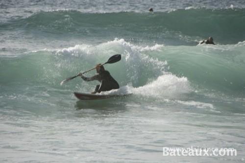 Photo Wave-ski dans les vagues en Bretagne