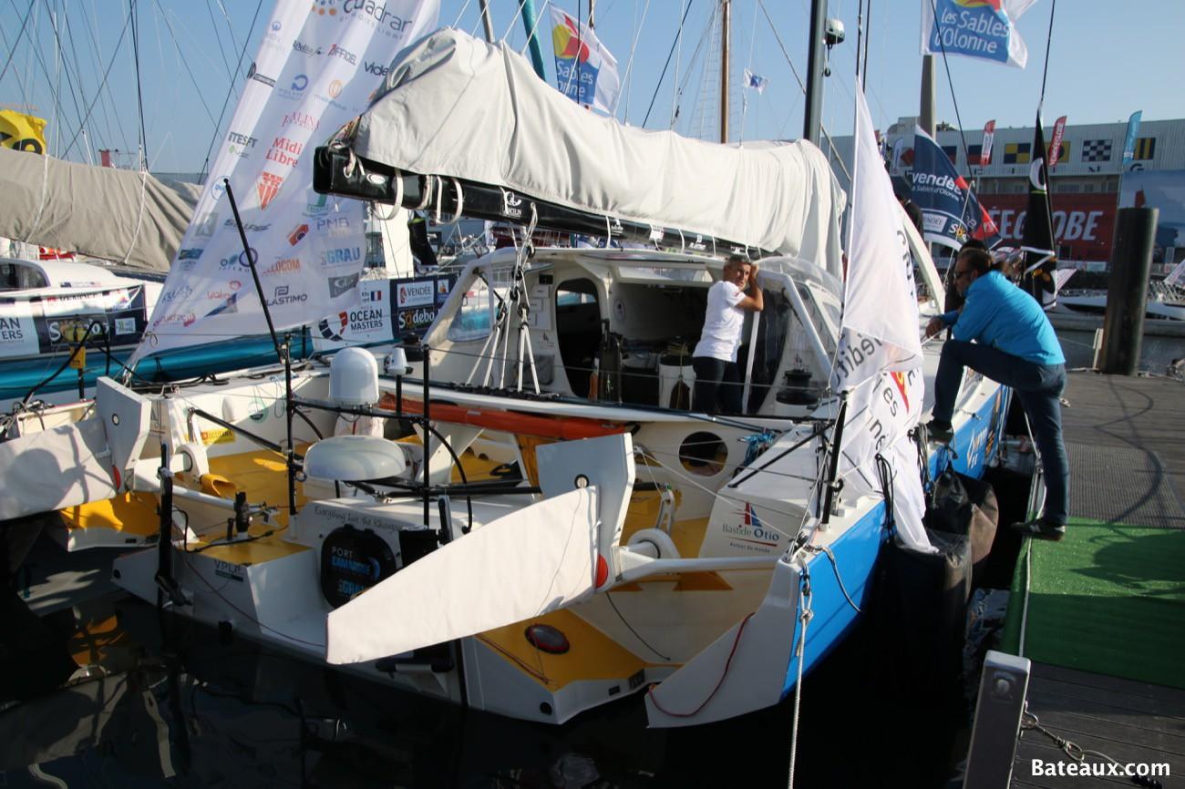 Photo Préparatif du voilier Bastide Otio avant le Vendée Globe 2016