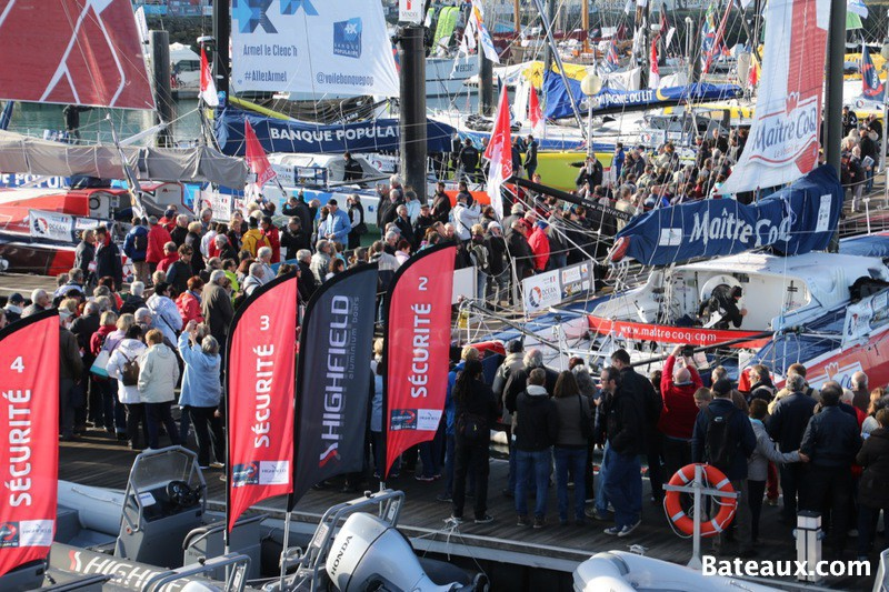 Photo Sur le ponton du Vendée Globe 2016