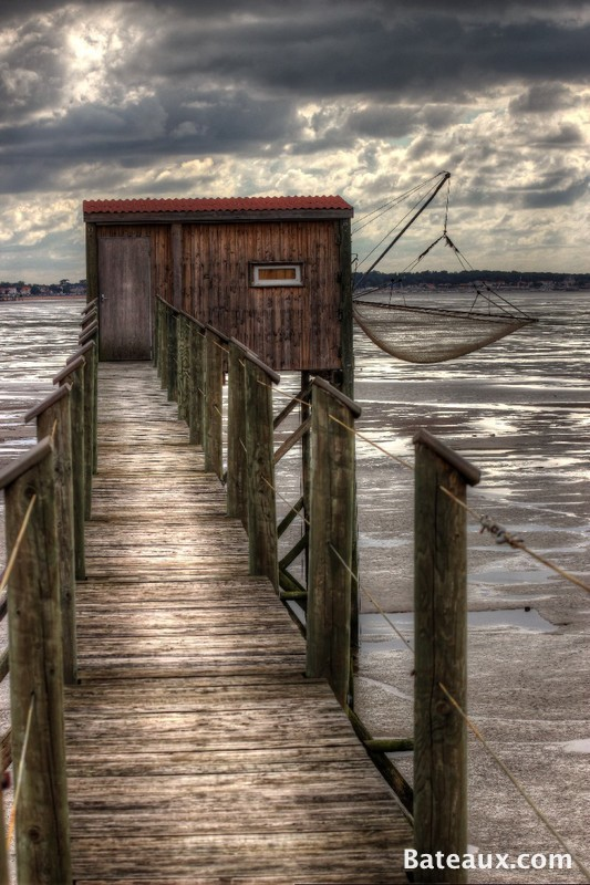 Photo Filet de pêche sur la Charente