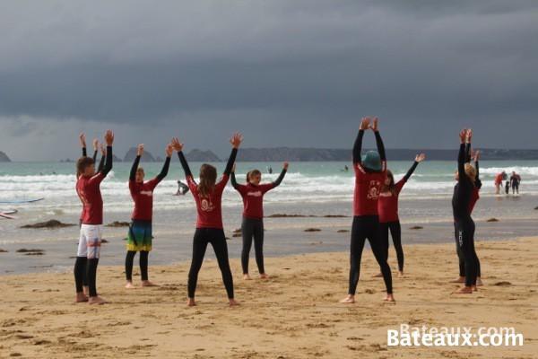 Photo Pendant un cours de surf à La Palue (29)