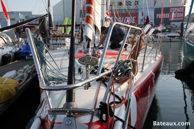 Photo Préparatif du voilier LA FABRIQUE pour le Vendée Globe