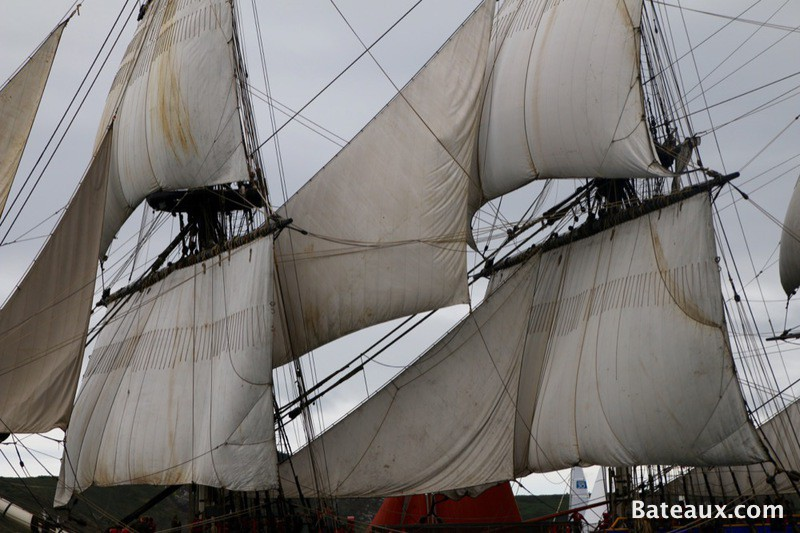 Photo Les voiles de l'Hermione