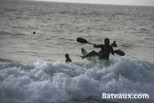 Photo Waveski sur une vague de La Palue (29)