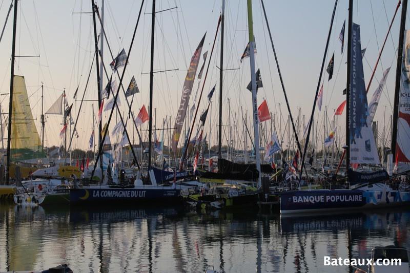 Photo Les voiliers du Vendée Globe 2016 aux Sables d'Olonne