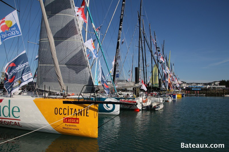 Photo Imoca avant le départ du Vendée Globe 2016