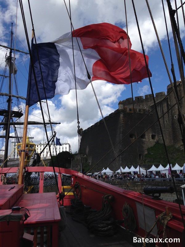 Photo Sur l'Hermione lors des Fêtes de Brest 2016