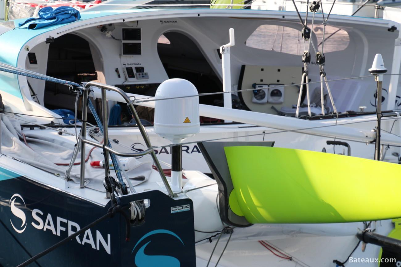 Photo Morgan Lagravière avec Safran Sailing Team