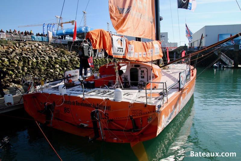 Photo PRB, voilier de Vincent Riou pour le Vendée Globe 2016