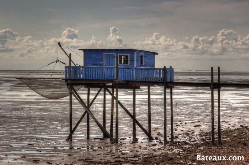Photo Une cabane à Carrelet bleue