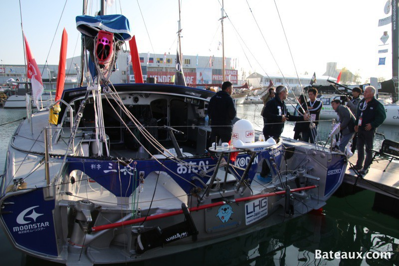 Photo Préparation de l'Imoca SPIRIT OF YUKOH aux Sables d'Olonne