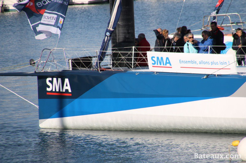 Photo Paul Meilhat avec SMA Course au large