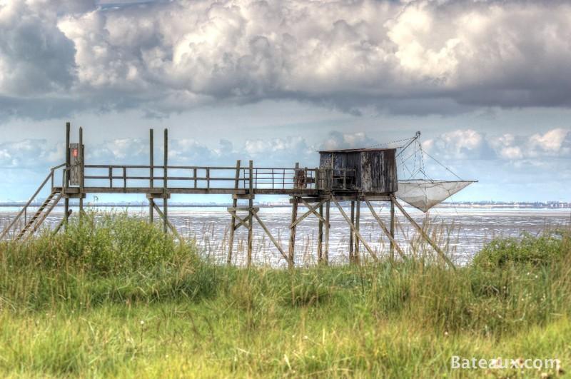 Photo Une cabane de pêche sur la Charente