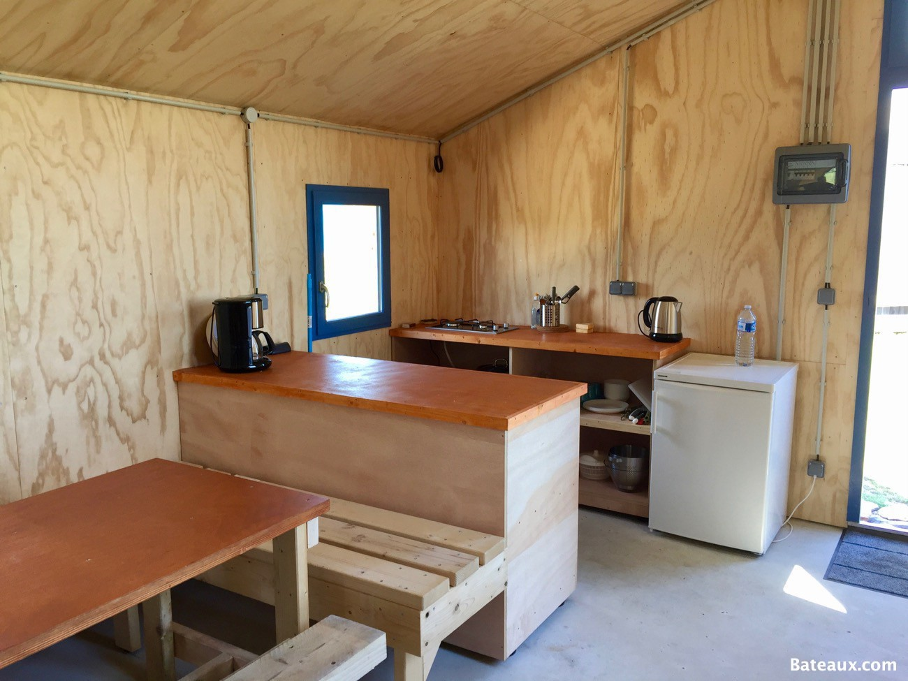 Photo Cuisine des cabanes refuge de mer du Ledenez de Molène