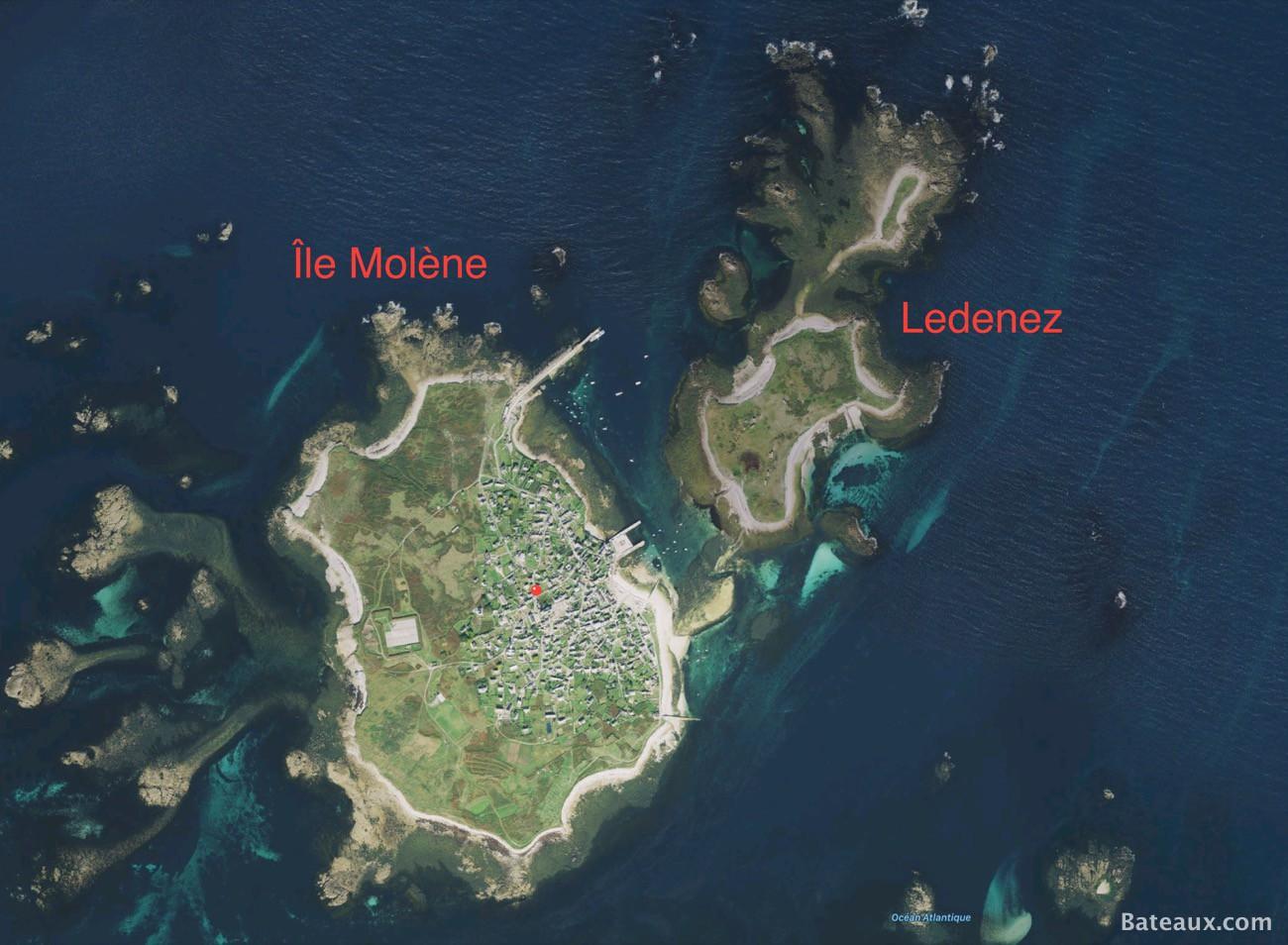 Photo Vue aérienne de l'archipel de Molène