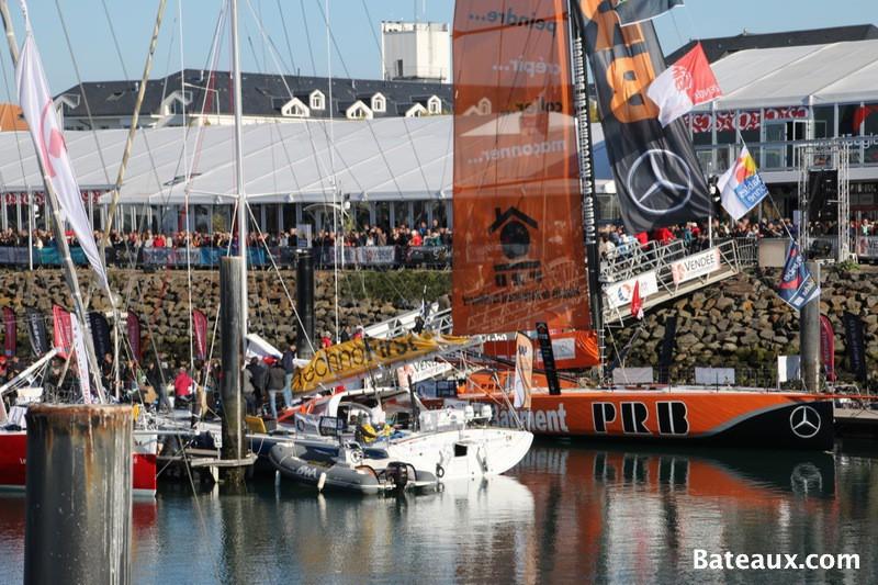 Photo PRB de Vincent Riou sur le ponton du Vendée Globe