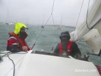 Tour de Belle Ile 2014 sous la pluie