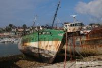 Vieux bateaux à Camaret sur mer