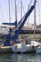 Grue de la zone technique de Port Grimaud