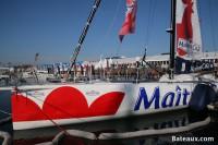 L'IMOCA Maître Coq aux Sables d'Olonne avant le départ du Vendée Globe 2016