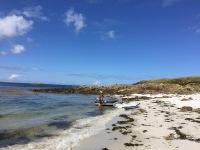 Plage de sable blanc sur le Ledenez de Molène
