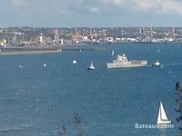 La Jeanne dans le goulet de Brest