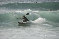 Wave-ski dans les vagues en Bretagne