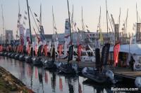 Les semi-rigides sur le ponton du Vendée Globe 2016