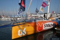 IMOCA StMICHEL-VIRBAC avant le départ du Vendée Globe 2016
