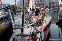 Préparatif du voilier LA FABRIQUE pour le Vendée Globe